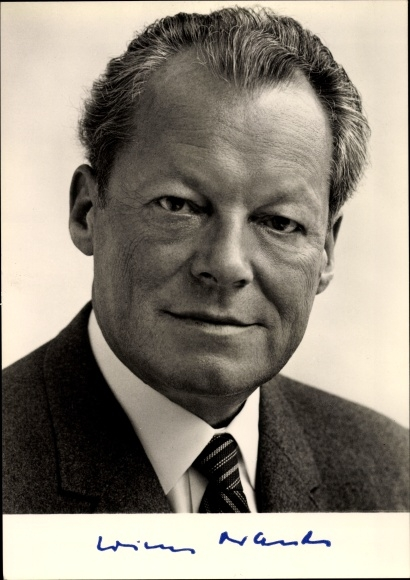 Ak Willy Brandt, Bundeskanzler, Portrait