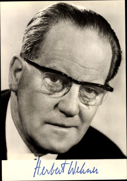 Ak Herbert Wehner, Stellvertretender Vorsitzender der SPD 0