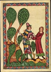 Künstler Ak Rubin von Ruediger, Minnesänger, Mittelalterliche Kunst