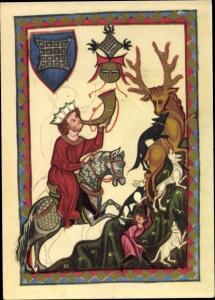 Wappen Künstler Ak Der von Suonegge, Minnesänger