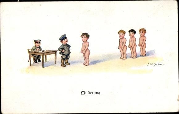 Künstler Ak Hoffmann, Ad., Musterung 0