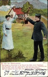 Ak Es lebe der Reservemann, Soldat, Frau