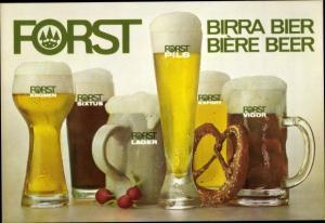 Ak Forst Bier, Reklame, Brezel