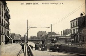 Ak Saint Ouen Seine-Saint-Denis, Boulevard Victor Hugo