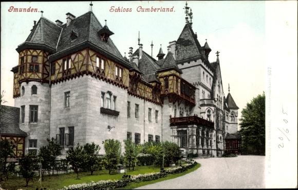 Ak Gmunden in Oberösterreich, Schloss Cumberland, Photochromie