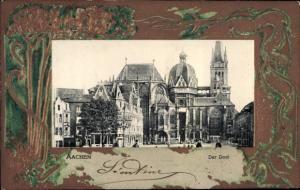 Präge Passepartout Ak Aachen in Nordrhein Westfalen, Dom