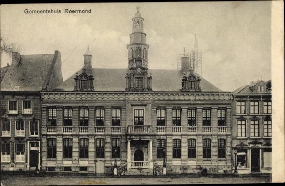 Ak Roermond Limburg Niederlande, Gemeentehuis