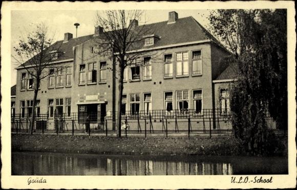 Ak Gouda Südholland Niederlande, ULO School