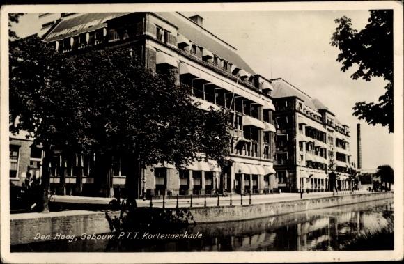 Ak Den Haag Südholland Niederlande, Gebouw PTT Kortenaerkade