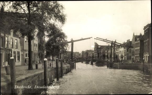 Ak Dordrecht Südholland Niederlande, Damiatenbrug