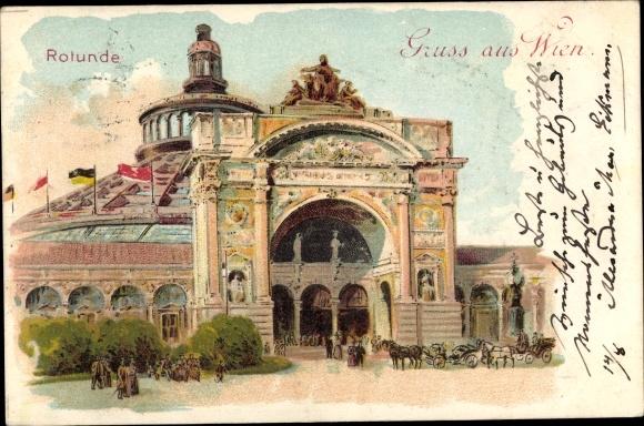 Litho Wien 2. Leopoldstadt Österreich, Rotunde