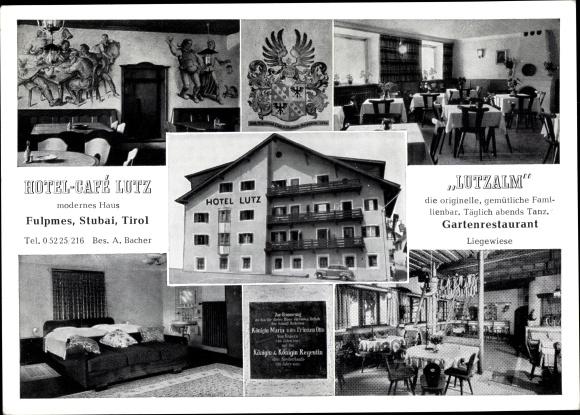 Ak Fulpmes Stubai Tirol, Hotel Café Lutz, Lutzalm