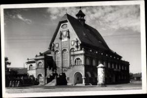 Ak Krnov Jägerndorf Reg. Mährisch Schlesien, Schützenhaus, Strelnice