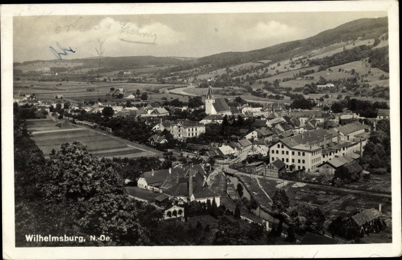 Ak Wilhelmsburg in Niederösterreich, Panorama