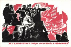 Künstler Ak Sowjetunion, Lenin, Revolution