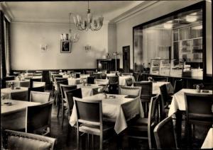 Ak Bautzen in der Lausitz, Sorbisches Cafe, Innenansicht