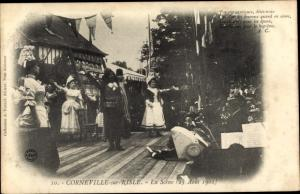 Ak Corneville sur Risle Eure, La Scene, 25 Aout 1901