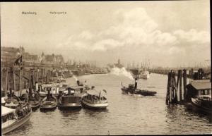 Ak Hamburg, Hafenpartie, Schlepper