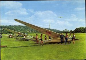 Ak Dresden, Segelfluggelände der GST, Segelflugzeug, DM-3266