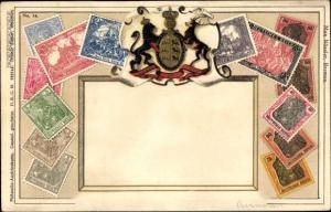 Präge Wappen Briefmarken Ak Deutsches Reich, Zieher No. 14