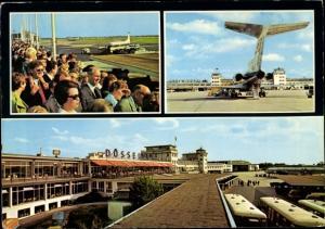 Ak Düsseldorf, Flughafen Lohausen, Passagierflugzeug