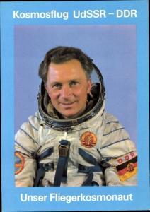 Ak Kosmonaut Sigmund Jähn, Oberstleutnant der NVA