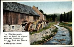 Ak Im Mühlengrund, Wassermühle