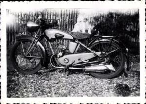 Foto Motorrad, Oldtimer, Kennzeichen 520-VJ