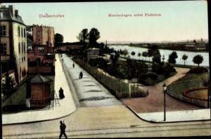 Ak Thionville Diedenhofen Lothringen Moselle, Moselanlagen nebst Flohturm