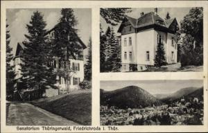 Ak Friedrichroda im Thüringer Wald, Sanatorium Thüringer Wald, Panorama vom Ort