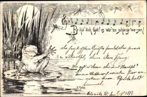Lied Ak Reiss, R., Behüt dich Gott, Frosch, Libellen