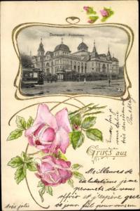 Passepartout Ak Dortmund im Ruhrgebiet, Fredenbaum, Rosen