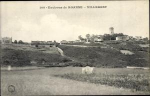 Ak Roanne Loire, Villerest, Vue générale