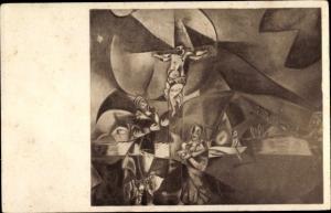 Künstler Ak Chagall, Marc, Christus gewidmet, Erster Deutscher Herbstsalon Berlin, Expressionismus
