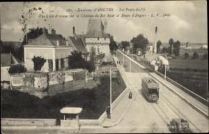 Ak Les Ponts de Ce Maine et Loire, Tramway, le Pont