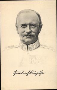 Künstler Ak friedrich König Friedrich August III. von Sachsen, Portrait