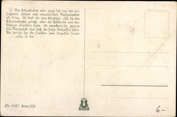 Künstler Ak Herrfurth, Oskar, Der Schweinehirt, Märchen, Hans Christian Andersen 1