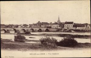 Ak Selles Saint Denis Loir et Cher, Vue générale