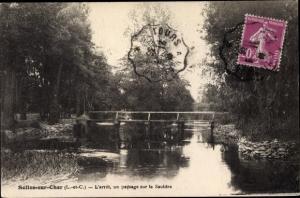 Ak Selles Saint Denis Loir et Cher, L'Arret, un paysage