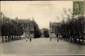 Ak Damville Eure, Avenue de la Garenne