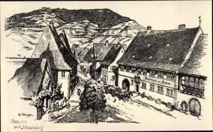 Künstler Ak Rödelsee Unterfranken, Gasthaus zum Löwen, Schwanberg
