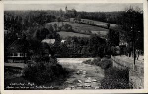 Ak Piechowice Petersdorf Riesengebirge Schlesien, Partie am Zacken mit Wilhelmshöhe