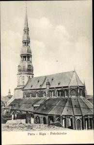Ak Riga Lettland, Petrikirche