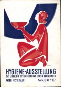 Künstler Ak Wien, Hygiene Ausstellung 1937