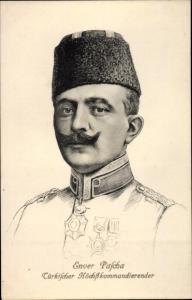 Künstler Ak Enver Pascha, Türkischer Höchstkommandierender