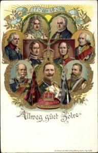 Litho Allweg guet Zolre, Hohenzollern, Kaiser Wilhelm II., 200jh Jubiläum 1901