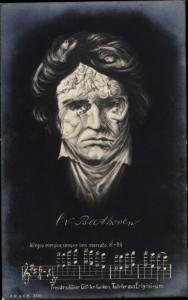 Künstler Ak Ludwig van Beethoven, Deutscher Komponist, Wiener Klassik, Metamorphose