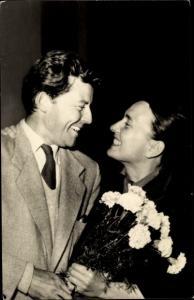 Ak Schauspieler Gerard Philippe und Elfriede Florin, Portrait