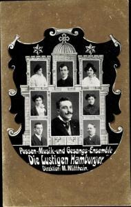 Ak Possen Musik und Gesangs Ensemble Die Lustigen Hamburger, M. Witthein