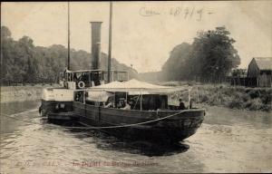 Ak Caen Calvados, Le Départ du Bâteau du Hâvre